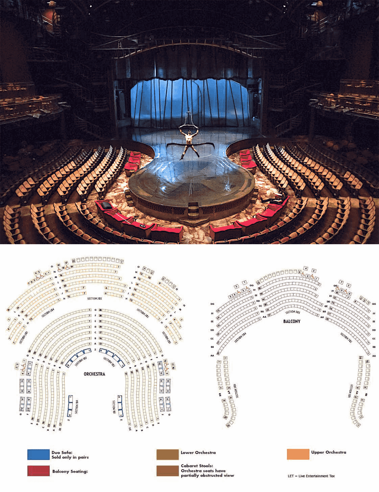 Zumanity Theater Seating Chart